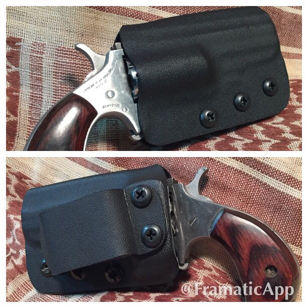 NAA Black Widow  22mag in a holster by SP Carry Solutions