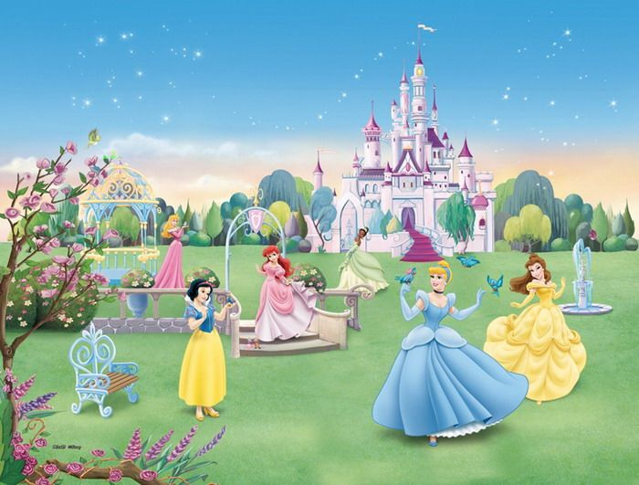 Disney Princess Garden Party Wall Mural Part 88