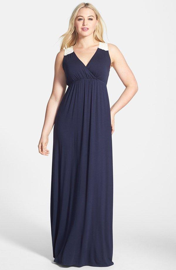 Nordstrom Plus Size Dresses | Lace Back Maxi Dress (Plus ...