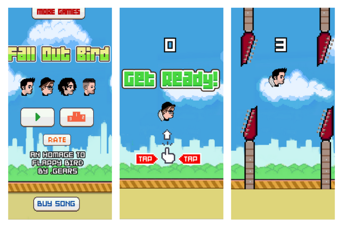 Fall Out Bird, The Flappy Bird Clone Game From Fall Out