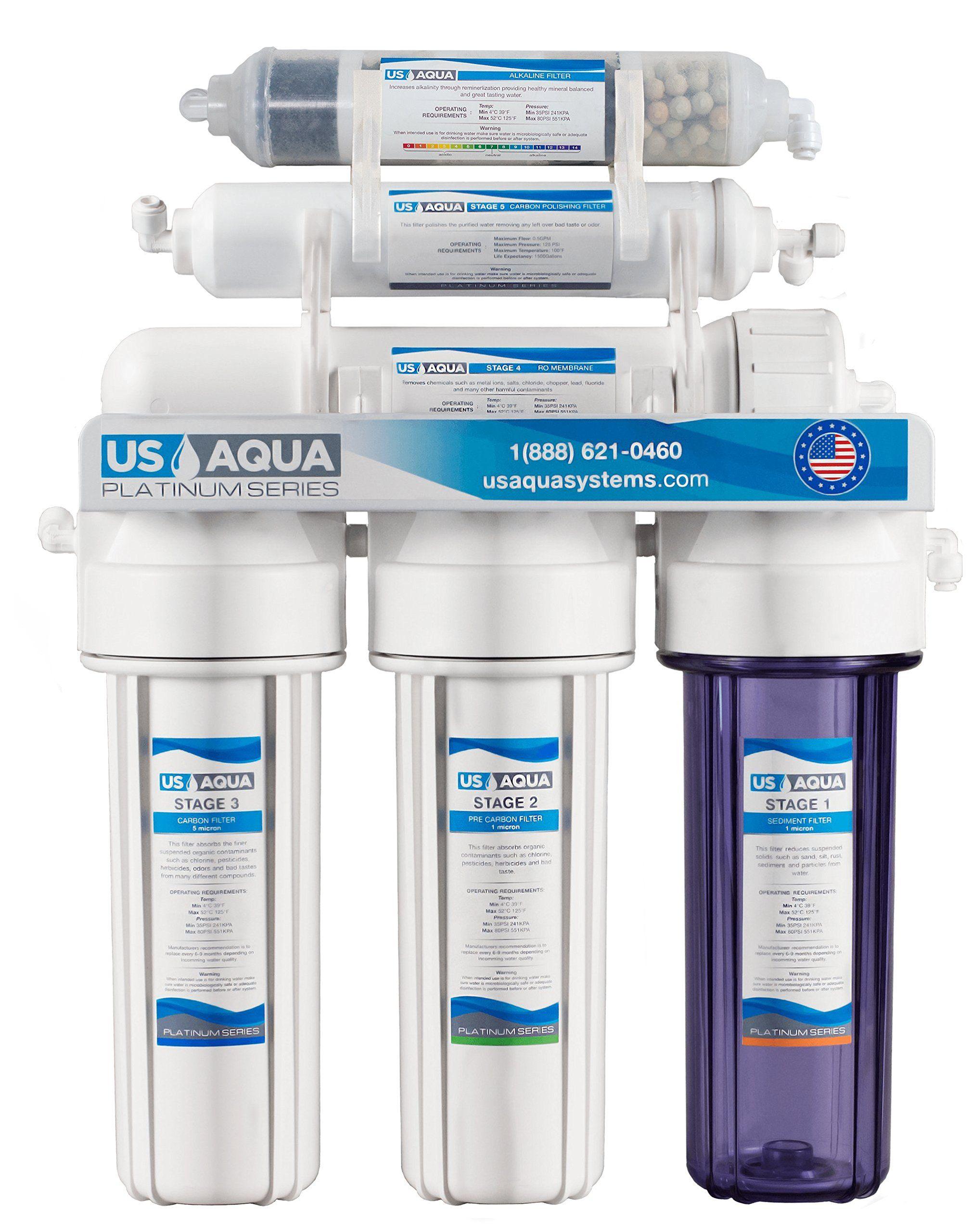Us Aqua Platinum Series Deluxe High Capacity 100gpd Under Sink Reverse Osmosis Purifier Drinking Wat Water Filter Refrigerator Water Filter Monogram Appliances