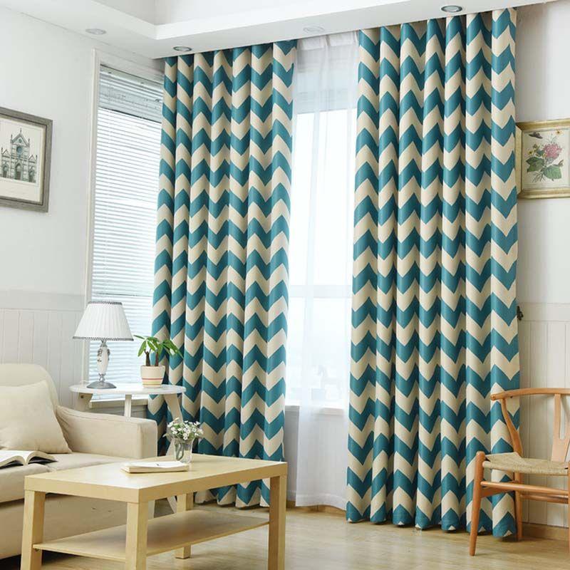 Resultado de imagem para cortina listrada horizontal for Cortinas modernas estampadas