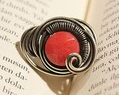 handmade sun stone ring-wire wrapped jewelry handmade-Adjustable wire rings- wire wrapped handmade jewelry
