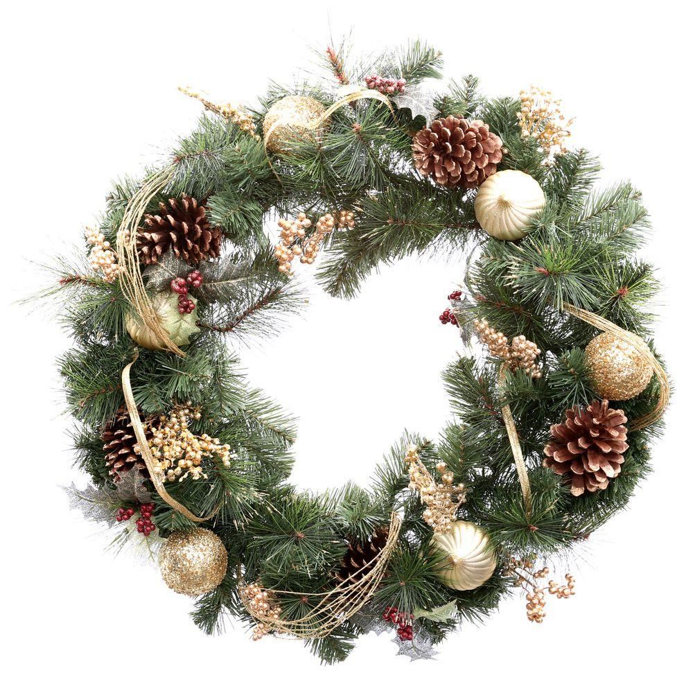 Gold Christmas Wreath.Pin On Christmas 3