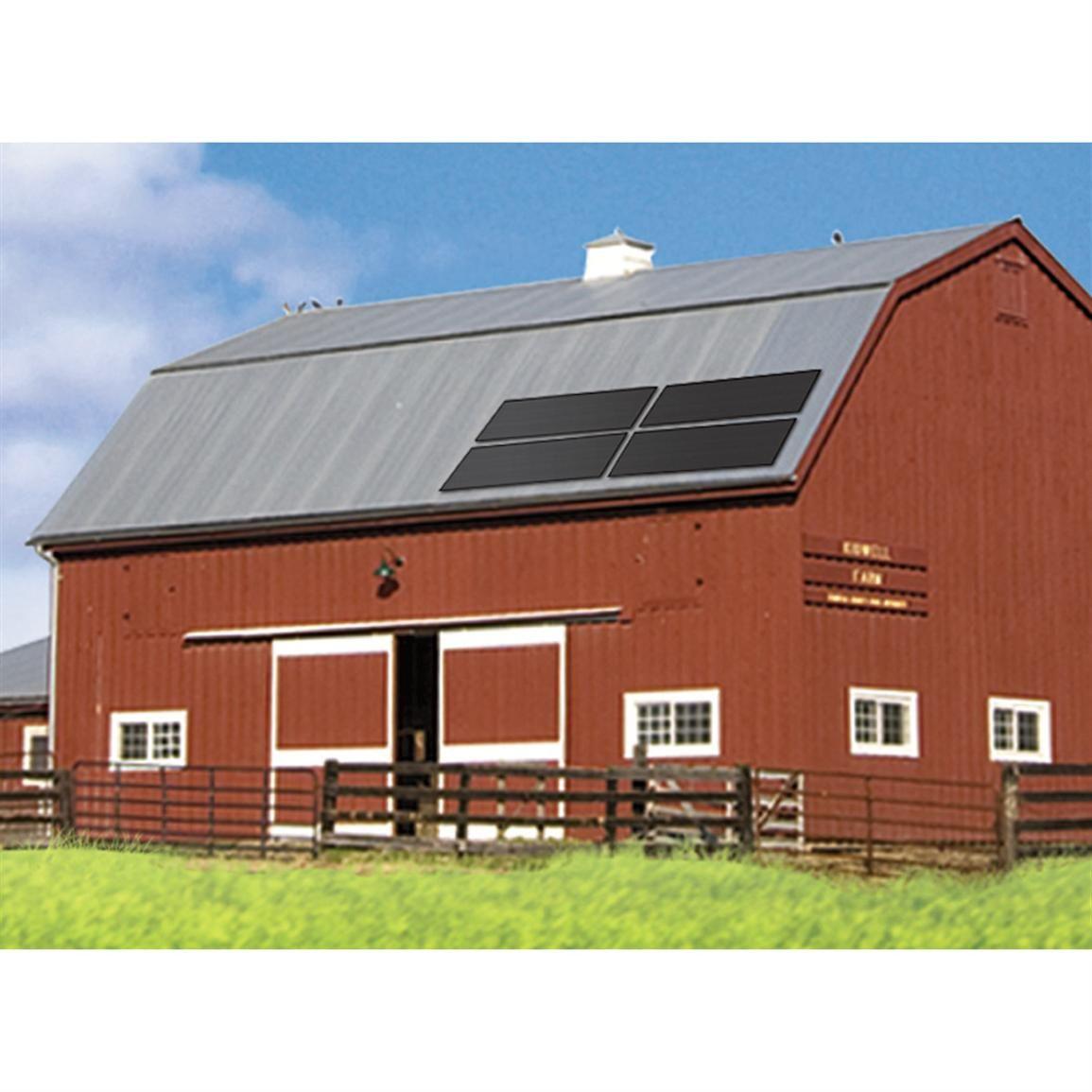 how to build a solar panel farm