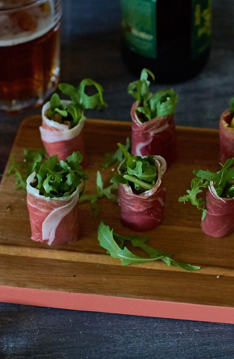 Parma Ham Goats Cheese And Rocket Canapés