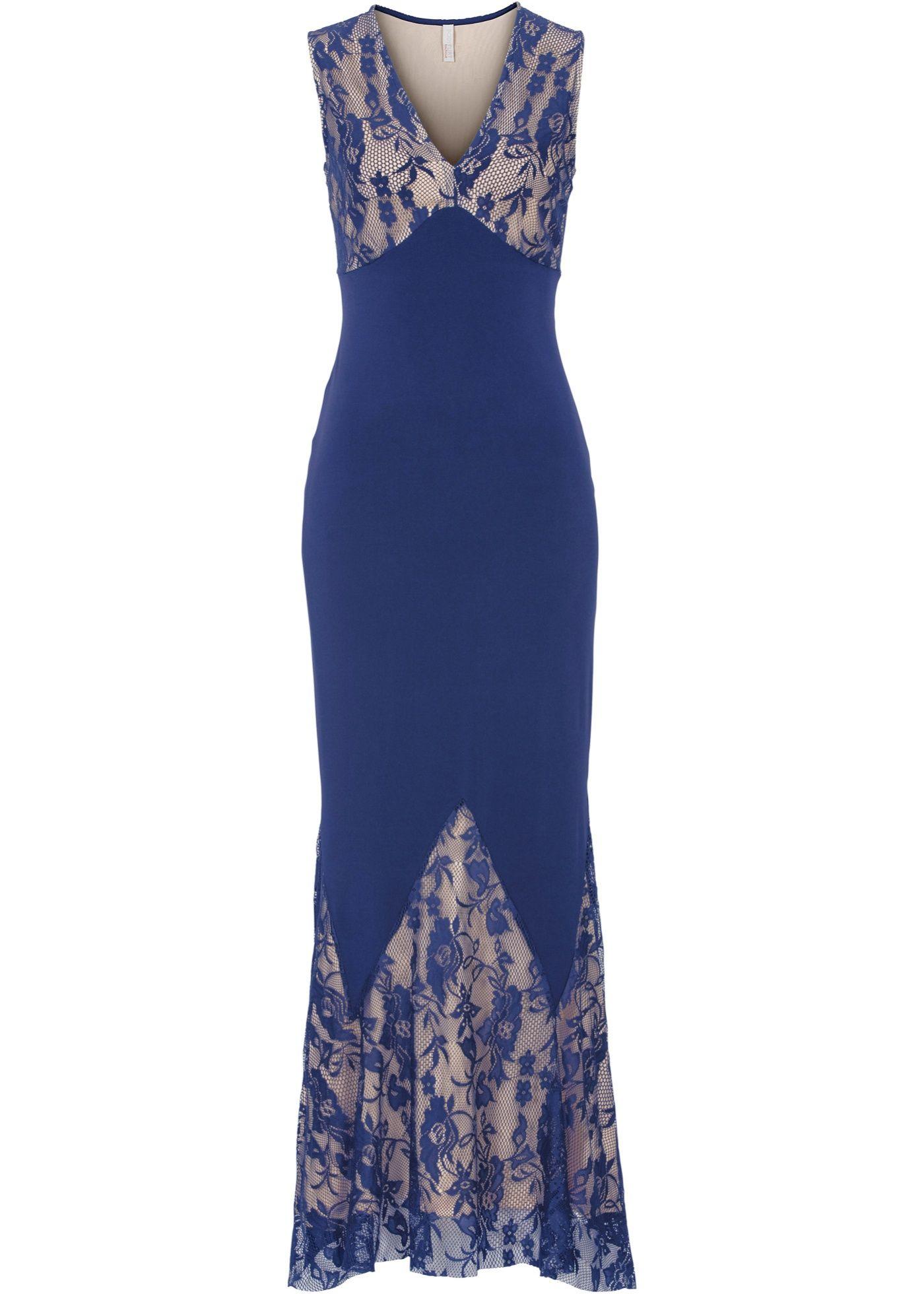 Abendkleid mitternachtsblau/hellbraun - BODYFLIRT boutique jetzt
