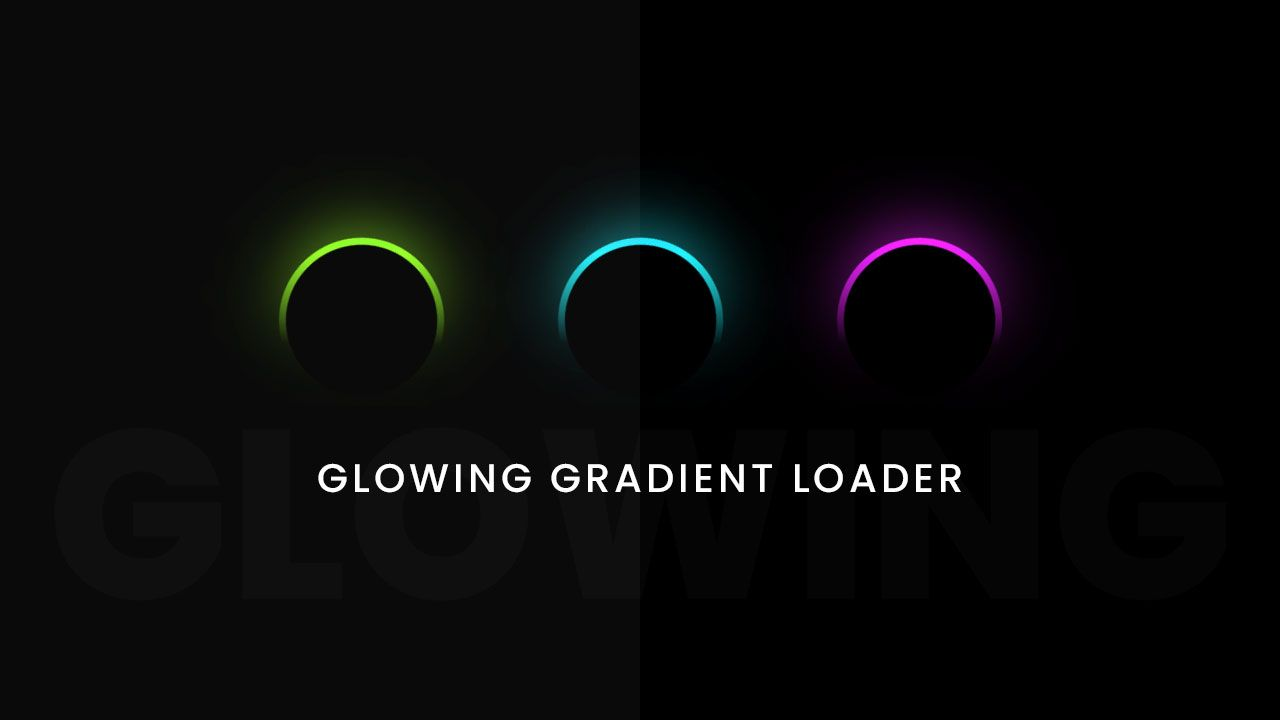 Css3 Glowing Gradient Loader Ring Animation Effects Css Animation Effects Web Development Design Css Animation Examples