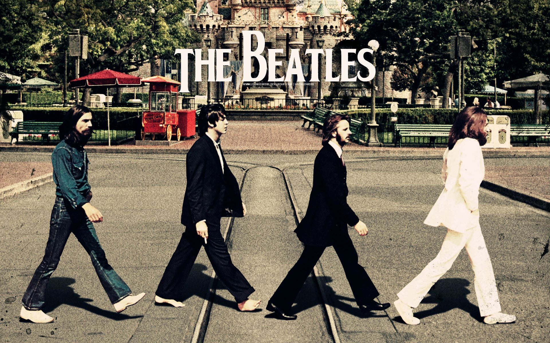 The Beatles Abbey Road album cover HD wallpaper