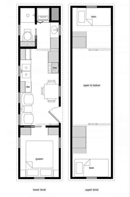 8x32 7 Tiny House Plans Tiny House Layout Tiny House Design
