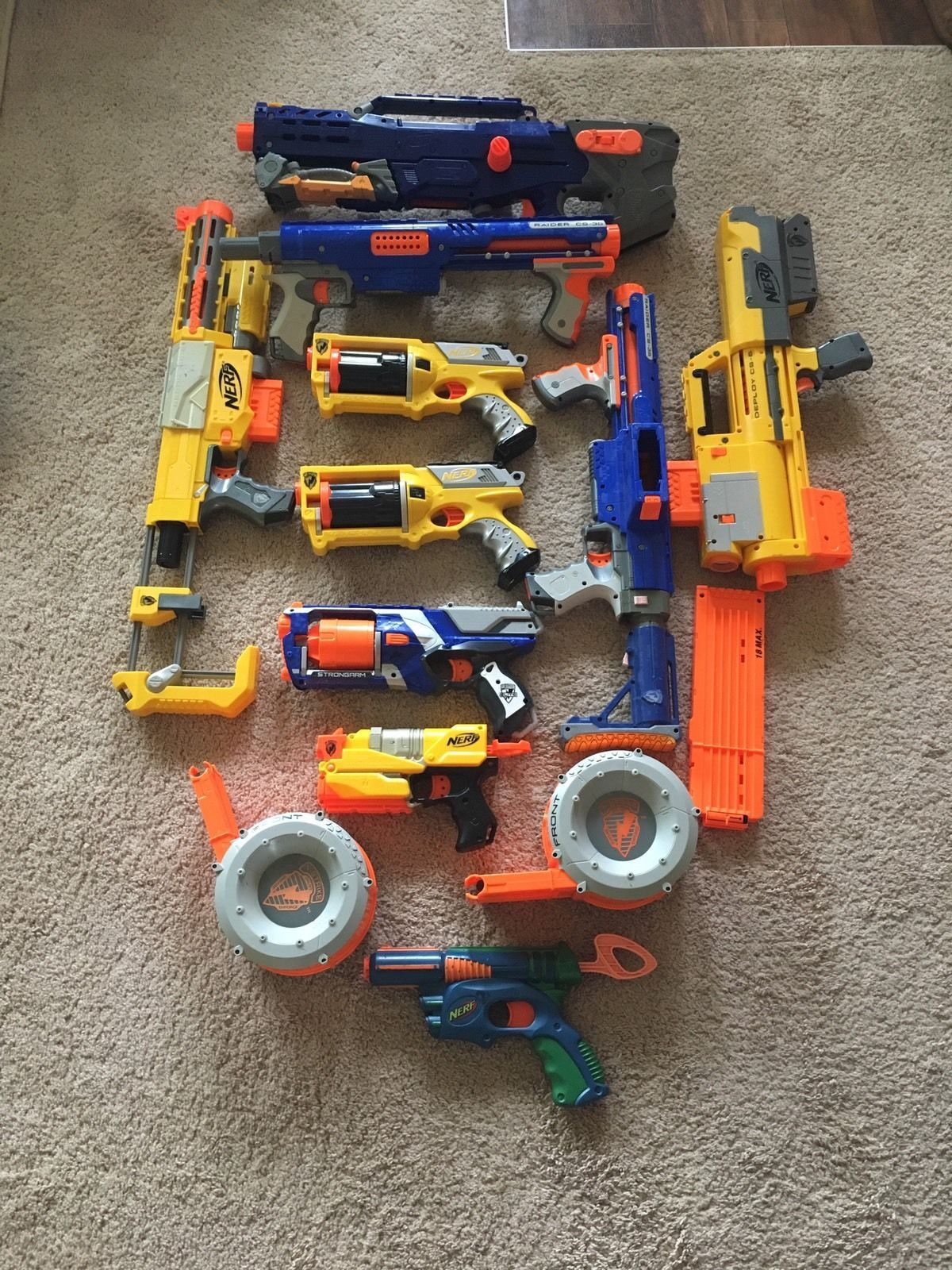 Nerf Gun Lot 10 Guns. Great For Parties. All Tested And Works