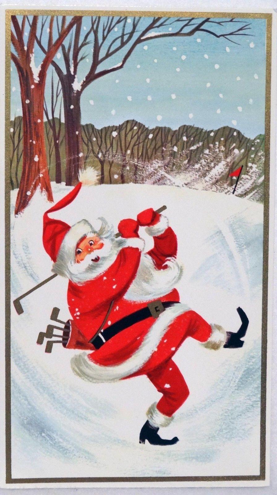 892 60s Rust Craft Golfing Santa Golf Club Vintage Christmas ...