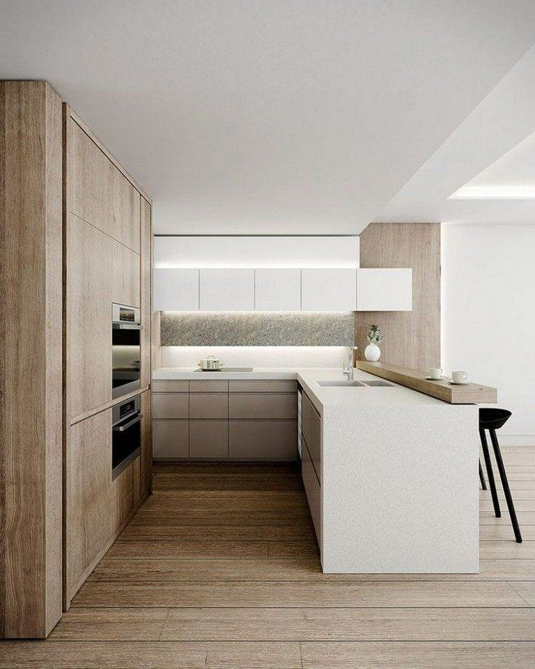 Best 45 Elegant Contemporary High End Natural Wood Kitchen 400 x 300