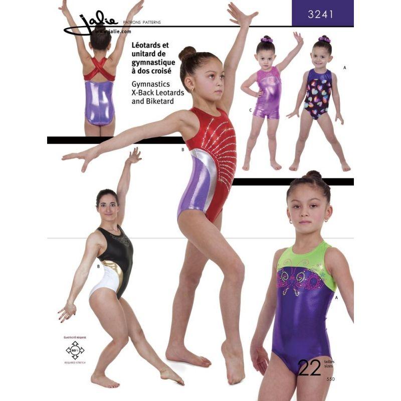englisches Schnittmuster Jalie 3241 Gymnastik Gr. 2-13 (92-155) und ...
