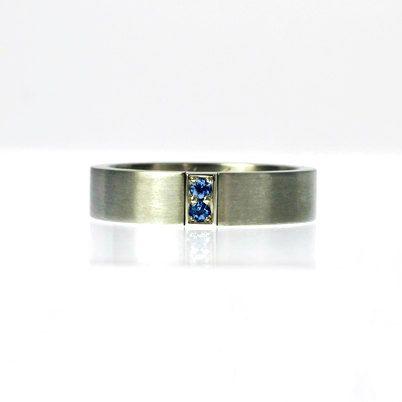 Blue Sapphire Wedding Band Blue Sapphire Wedding Ring Men