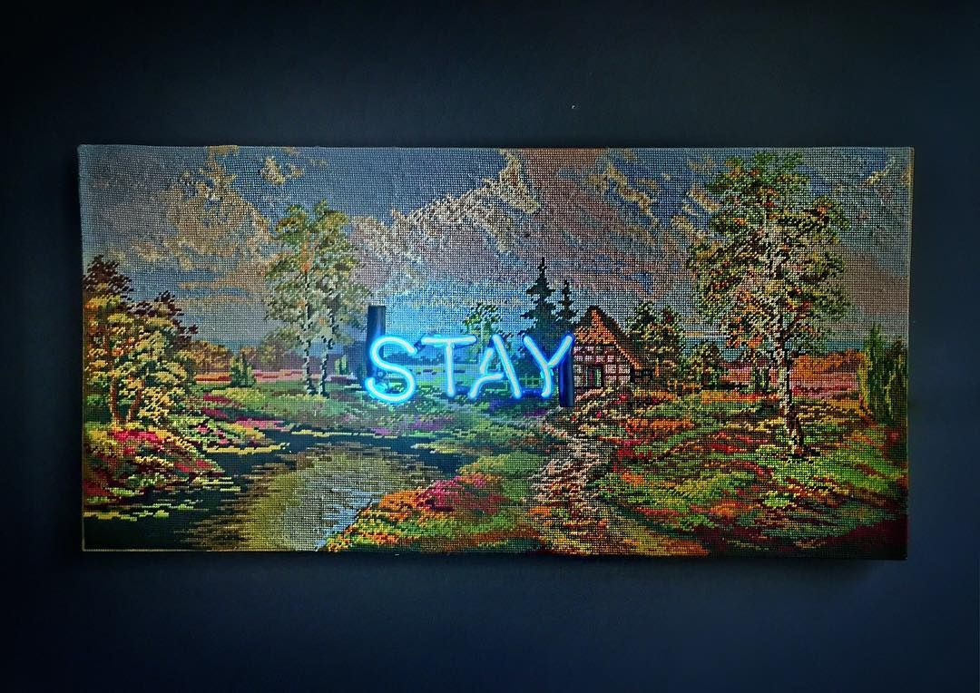Stay by Olivia Steele (2016) | ART- Mixed Media & Collage ...