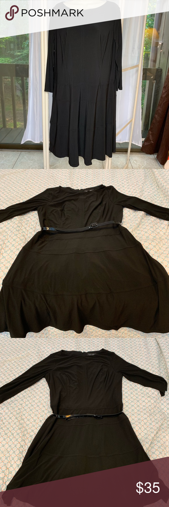 Evan Picone Little Black Dress Nwt Size 16 Give This Dress A Chance Hard To Photograph Really Cute Design Little Black Dress Black Dress Classic Black Dress [ 1740 x 580 Pixel ]