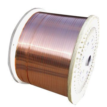 Oxygen-free copper flat wire is the main raw material for ...