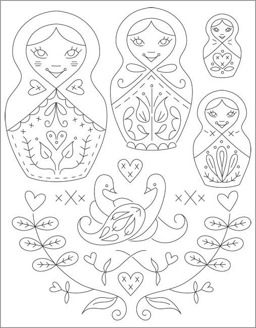 Pix For Russian Nesting Doll Template