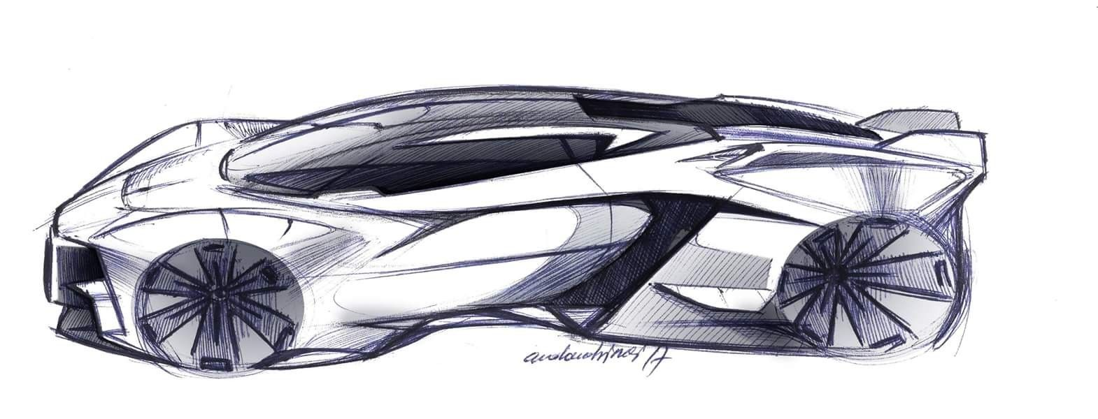 Futuristic Supercar Design Sketch Side View Industrial Design Digital Sketches Concept Car Renders Vehicle Concept Car Drawings Futuristic Cars Car Sketch