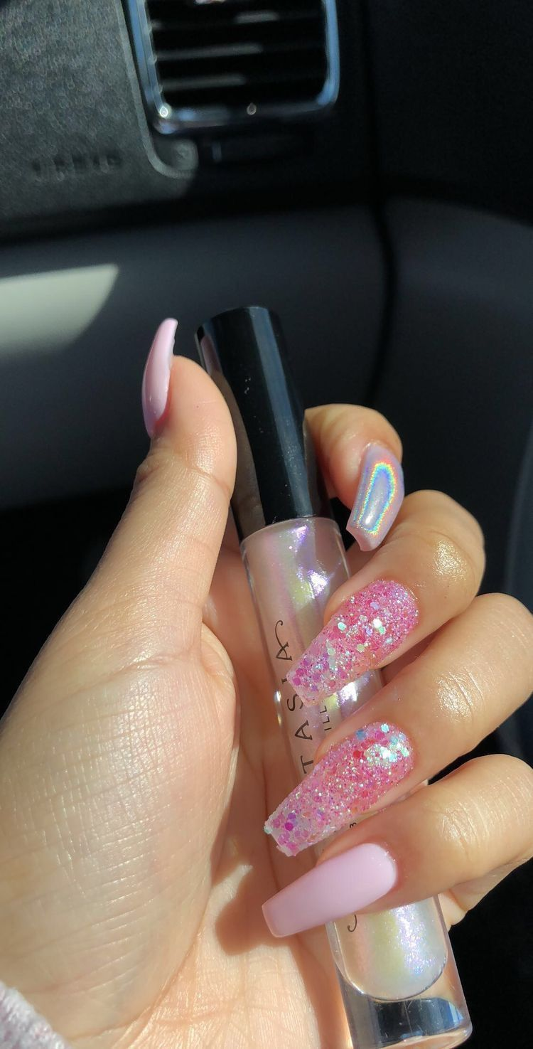 Pink Nails Cute Nails Nail Inspo Nails Acrylics Adorable Coffin Nails Designs Pretty Acrylic Nails Cute Acrylic Nails