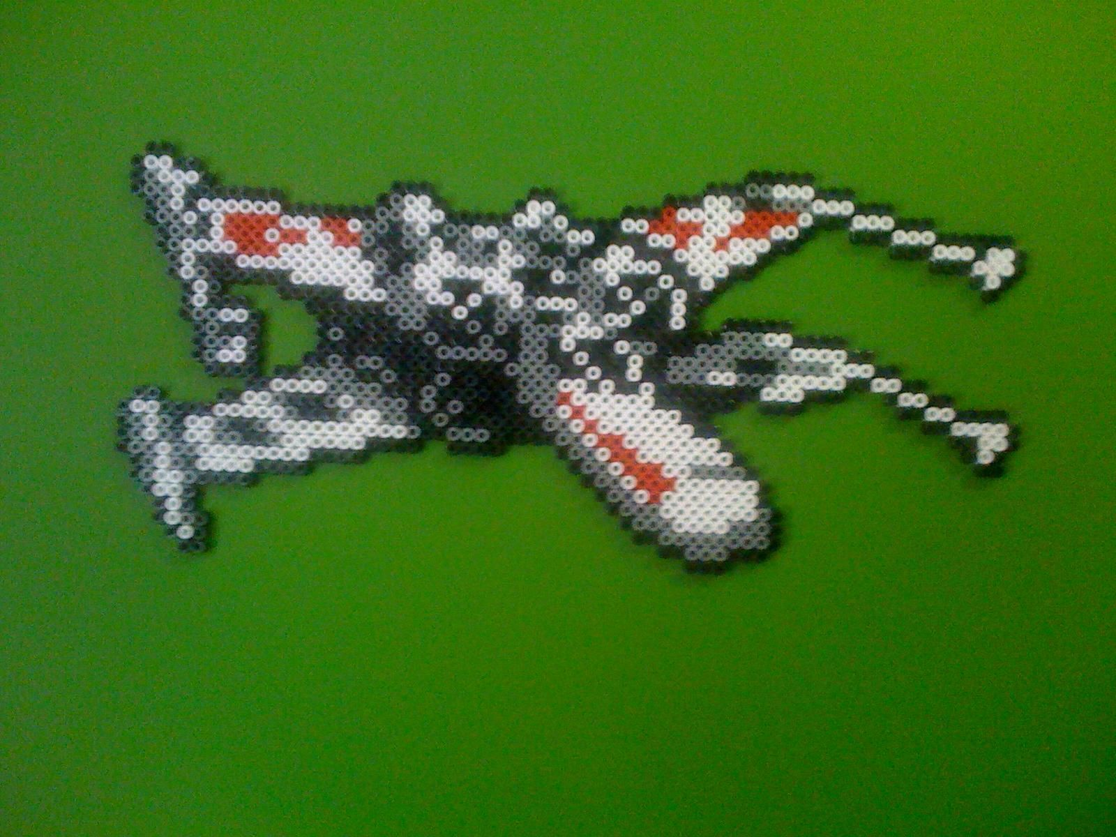X Wing From Star Wars Nes Star Wars Crafts Perler Beads