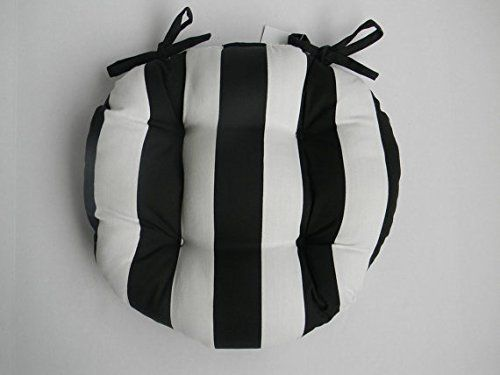 indoor outdoor round tufted bistro cushion with ties https