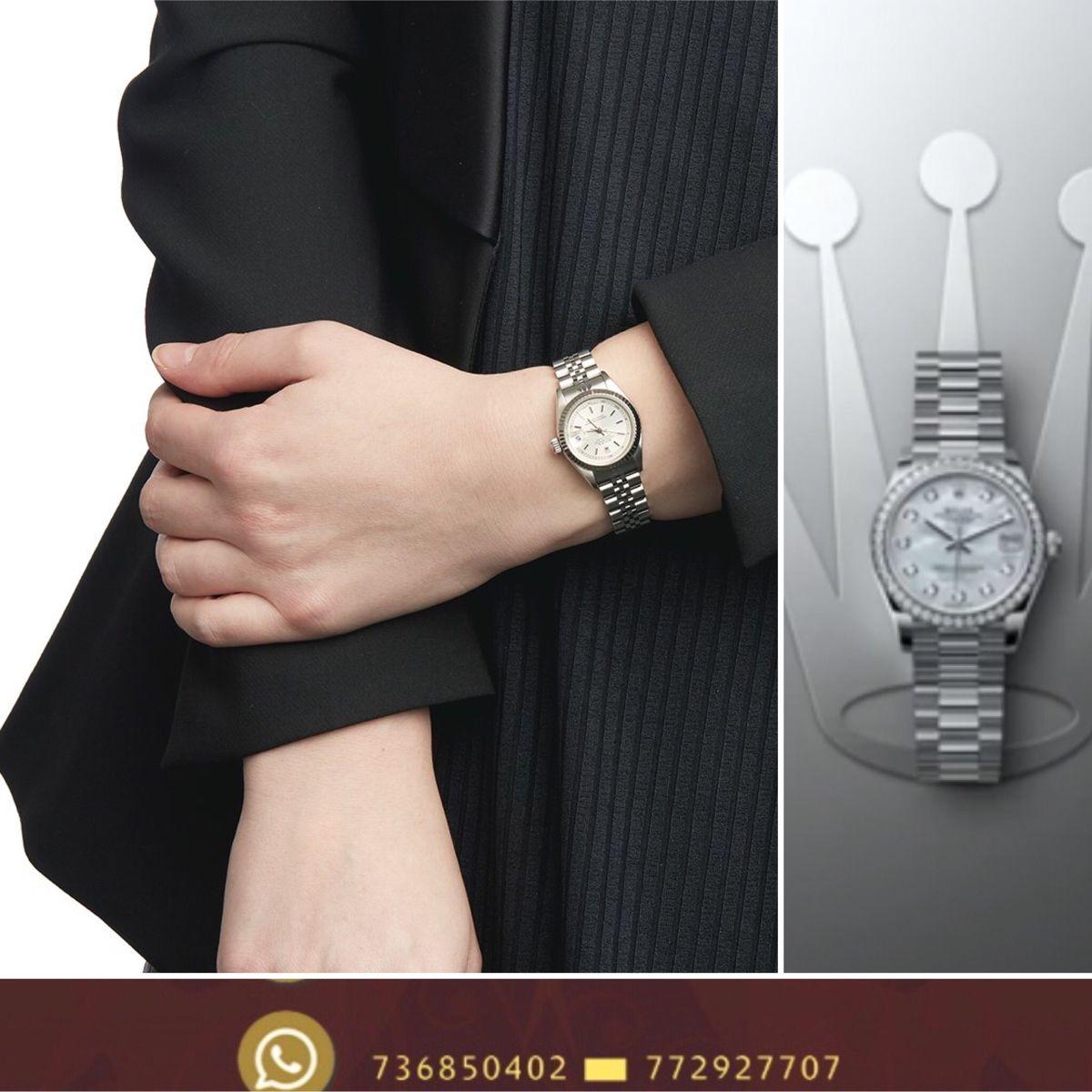 ساعات رولكس نسائي كوبي ساعة صنعاء هدية Mesh Strap Watch Mesh Strap Cluse Watch