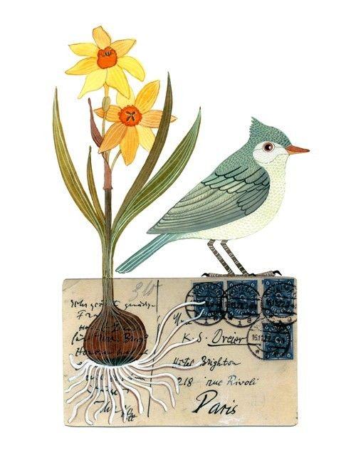 ... Bird No23 by Geninne on Etsy, $30.00