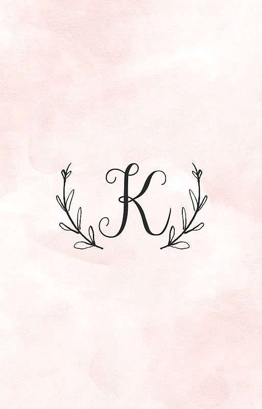Laurel Monogram Letter K Monogram Wallpaper Alphabet Wallpaper Monogram Letters