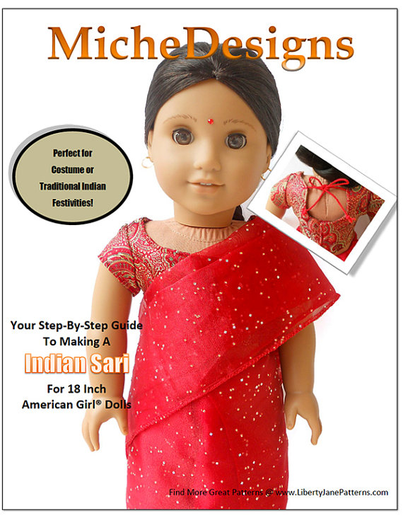 Pixie Faire Miche Designs Indian Sari Doll Clothes Pattern for 18 ...