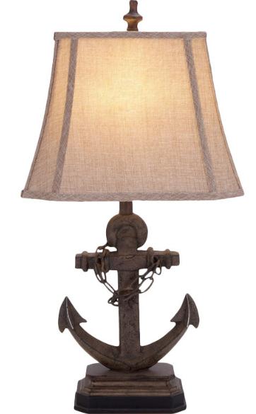 Coastal Nautical Octopus Table Lamp 31 Inches Tall