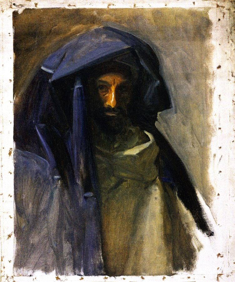 The Athenaeum - Man in a Blue Mantle (John Singer Sargent - ), Fogg Museum of Art , 1891