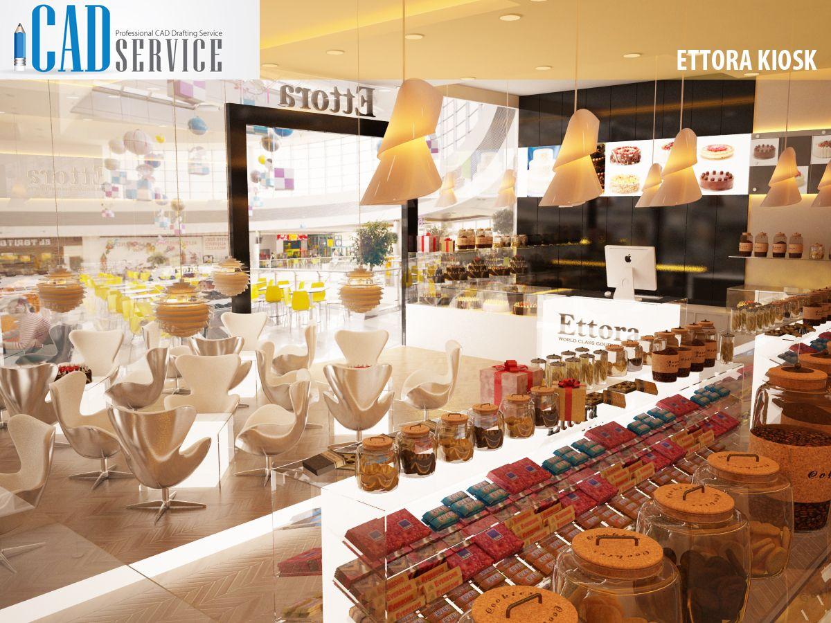 Ettora Kiosk - Bakery Store Design  by   iCADService