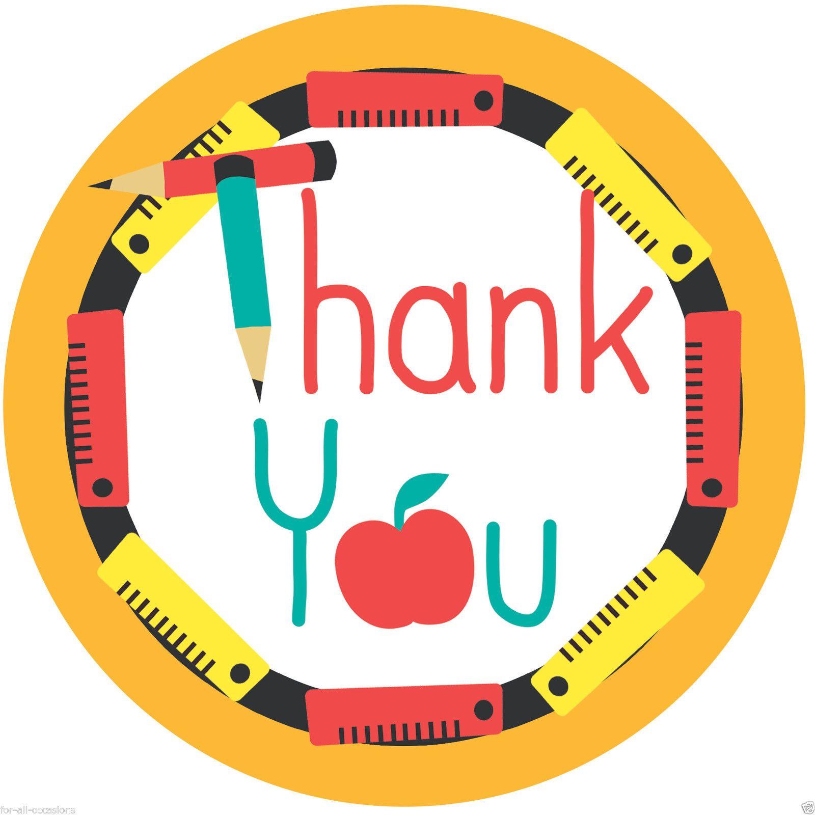 Thank You Teacher School Edible Rice Paper bun cupcake ...