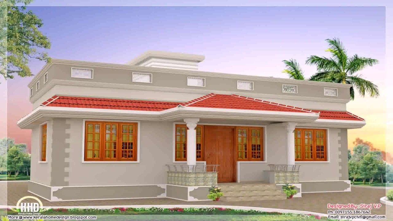 15 Pics Review Single Floor House Front Design And Description In 2020 Simple House Design Single Floor House Design Kerala House Design