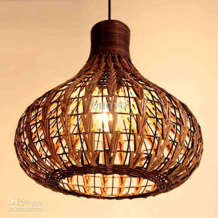 Southeast Asia Rattan Garlic Dining Room Ceiling Pendant Lights Handmade Study Room Restaurant Parlor Onion Pendant Chandelier Fixtures Track Lighting ...  sc 1 st  Pinterest & Southeast Asia Rattan garlic Dining Room Ceiling Pendant Lights ...