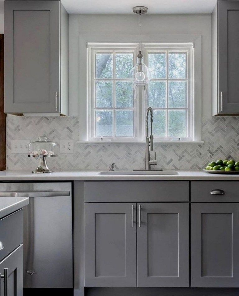 Top 50 Best Grey Kitchen Ideas: 50 Brilliant Kitchens Cabinets Design Ideas