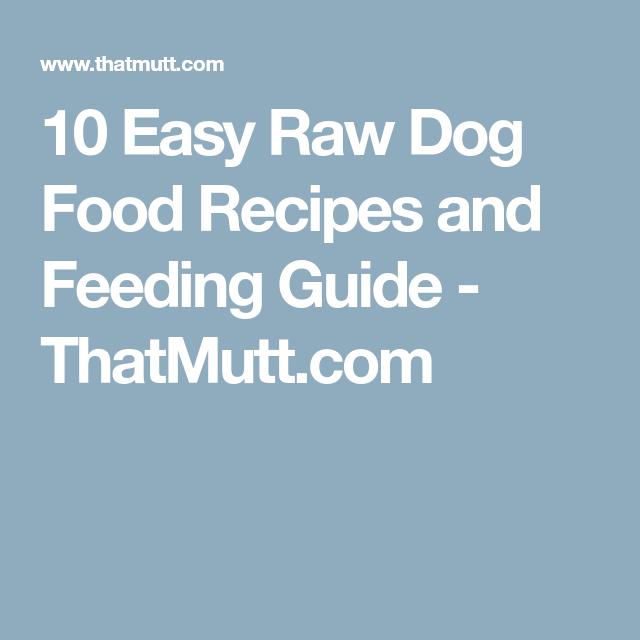 10 easy raw dog food recipes and feeding guide thatmutt my 10 easy raw dog food recipes and feeding guide thatmutt solutioingenieria Images