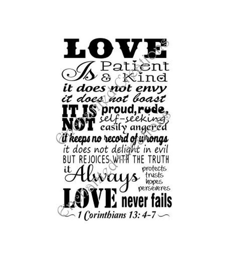 Download SVG file Love is Patient 1 Corinthians 13: 4-7   Etsy in ...