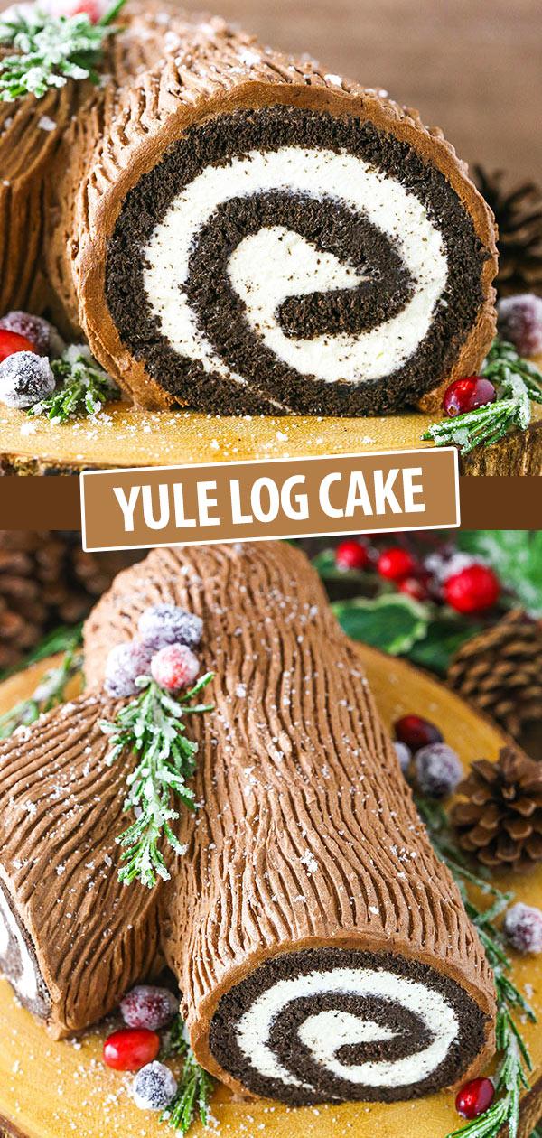 Yule Log Cake (Bûche de Noël) Recipe Yule log cake