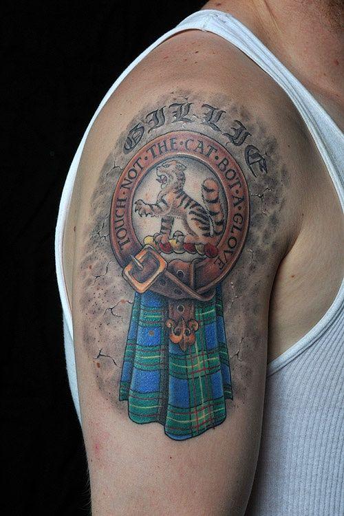 With Johnstone Crest Tattoos Crest Tattoo Scottish Tattoos