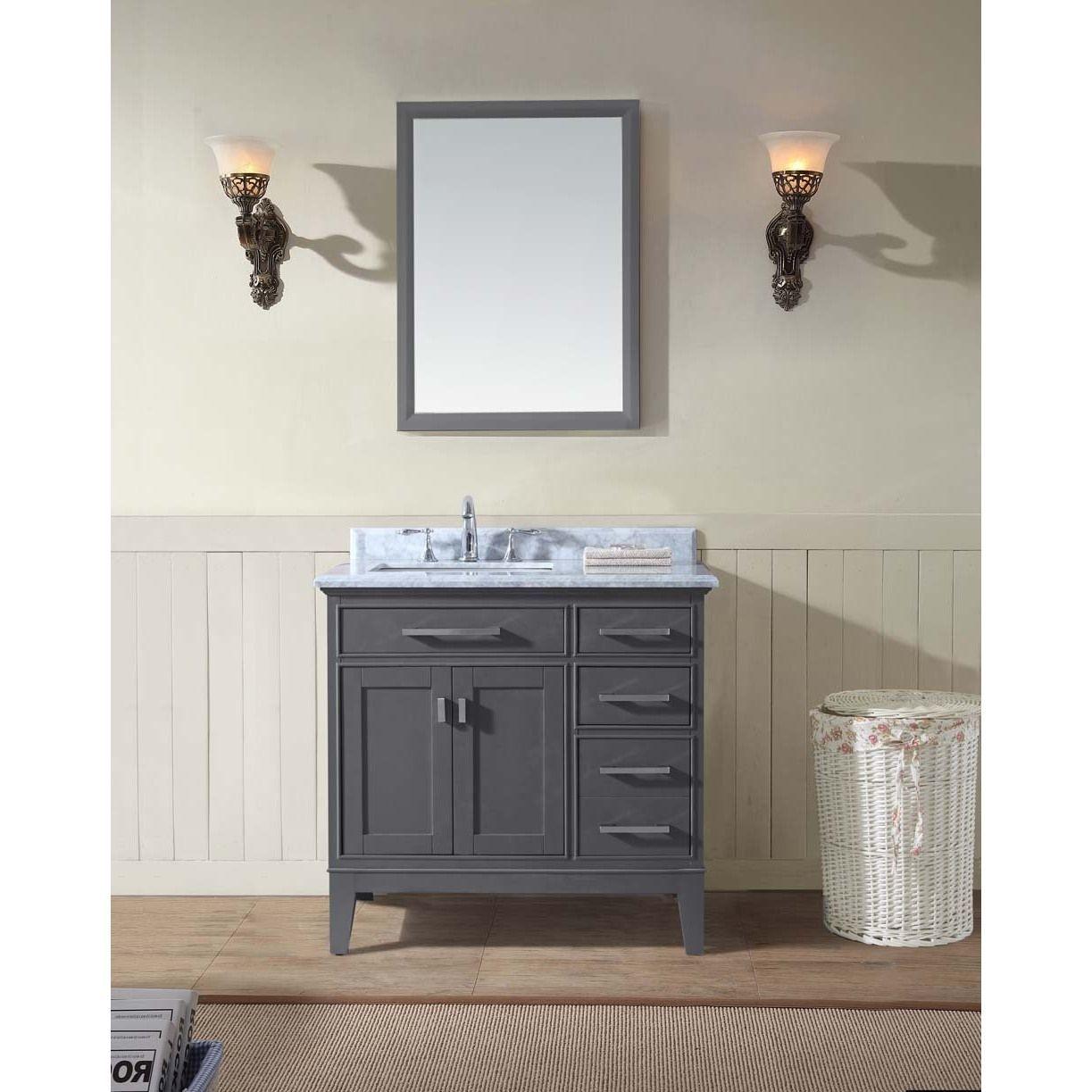 Ari Kitchen and Bath Danny 36-inch Single Bathroom Vanity Set (Maple ...