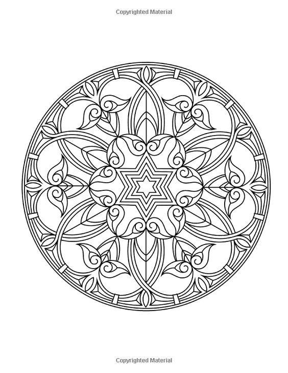 Zen Transcendental Mandala Coloring Book for Adults and Children Vol ...