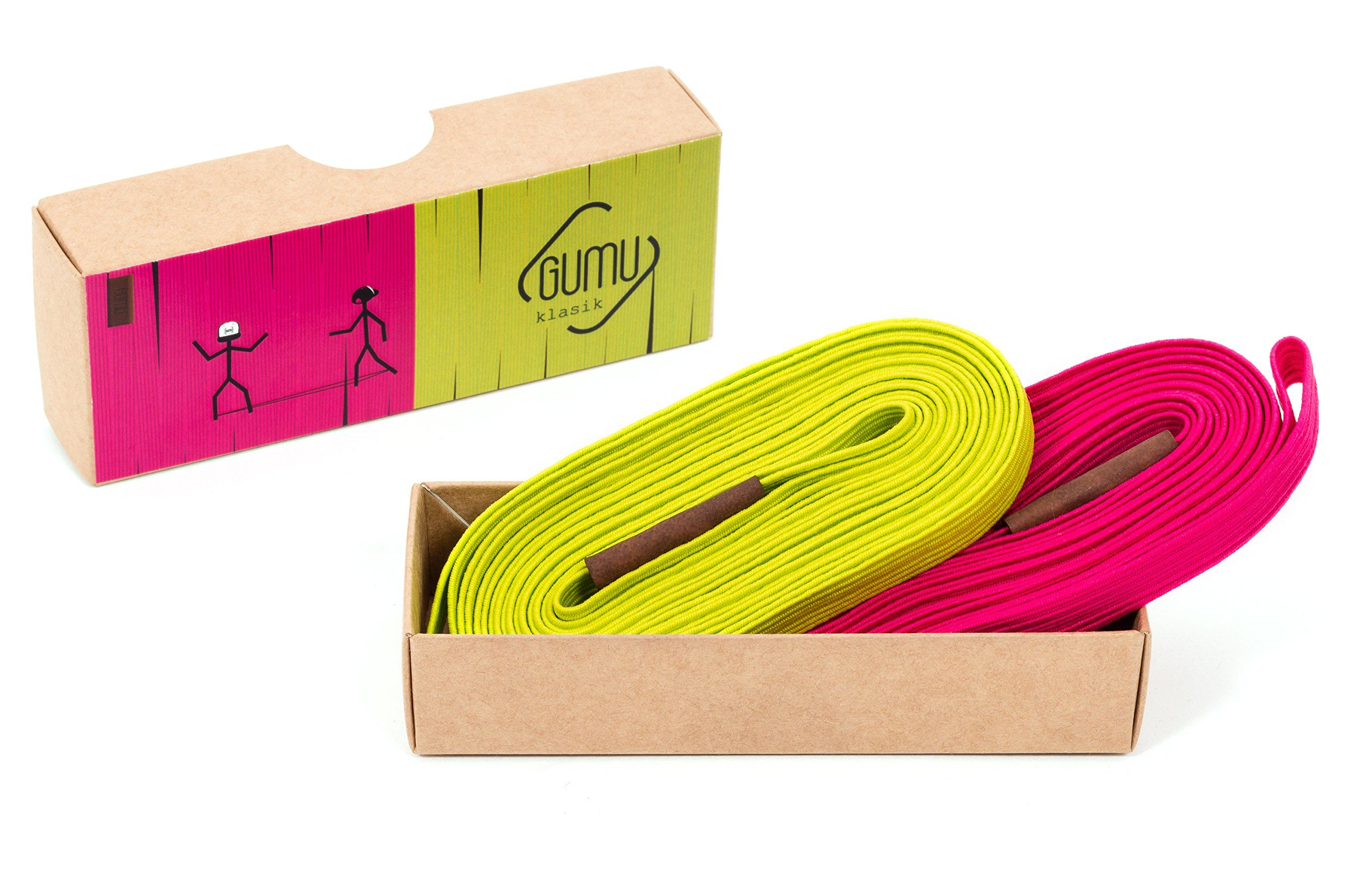 Gumu Chinese Jump Rope Klasik 11 Feet Pack Of 2 Colored Chinese Jump Ropes For Kids And Adults Durable Highly Elasti Chinese Jump Rope Elastic Jump Rope