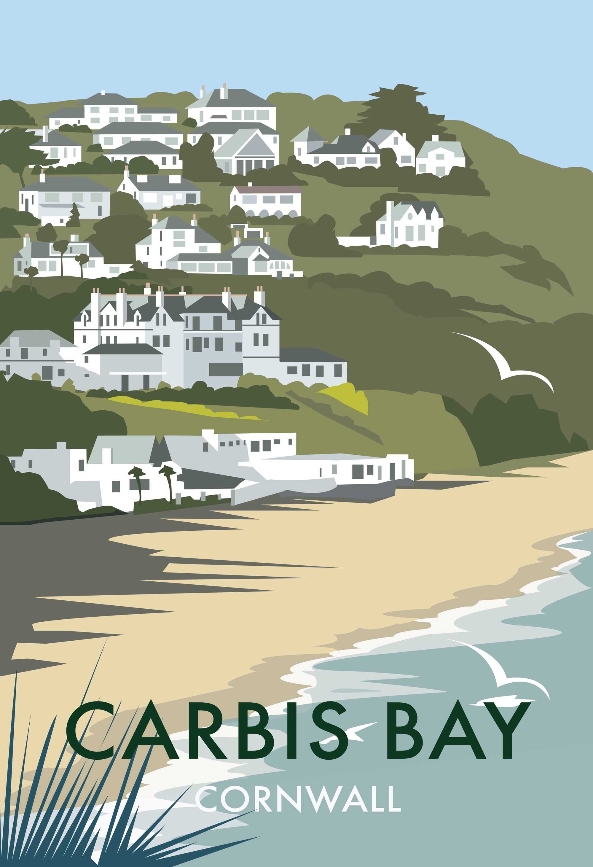 carbis bay dt35 beach and coastal print by dave thompson. Black Bedroom Furniture Sets. Home Design Ideas