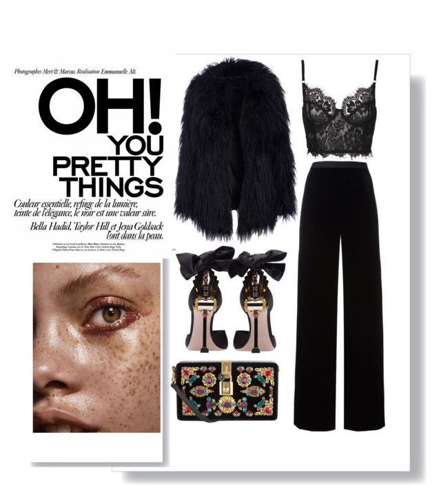 """""""playing safe;"""" by dorbie ❤ liked on Polyvore featuring T By Alexander Wang, Miu Miu and Dolce&Gabbana"""