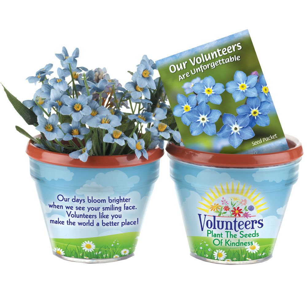 Volunteers Plant The Seeds Of Kindness Flower Planter Gift