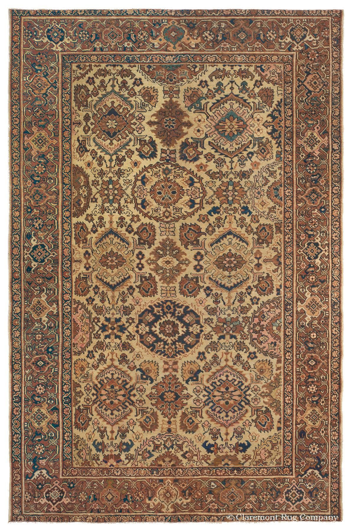 Mahal West Central Persian 6ft 9in X 10ft 8in Circa 1900 Halilar Antika