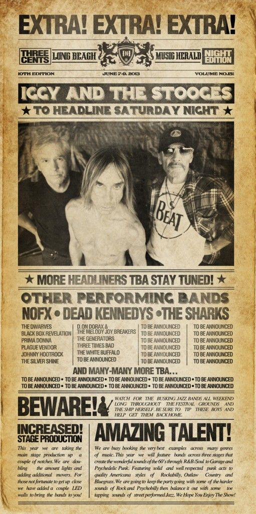 Be there or be square Iggy and the Stooges at Ink-N-Iron Festival